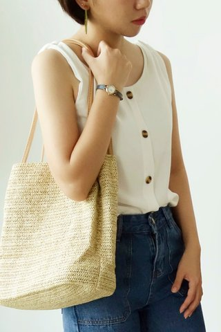 BUTTON DOWN SLEEVELESS TOP