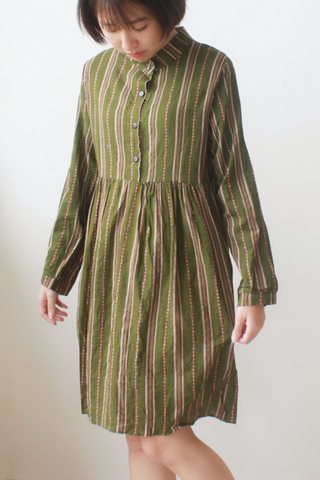 Long-sleeve Print Maxi Dress