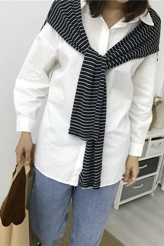 Preppy Style Long-sleeve Top
