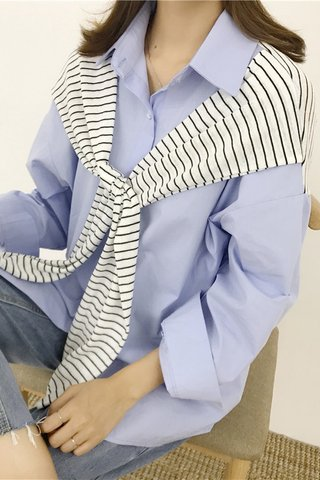 Preppy Style Long-sleeve Top