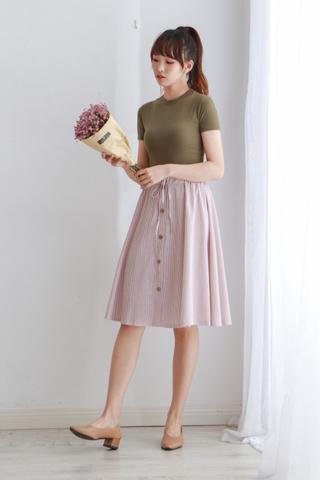 A Line Stripe Skirt