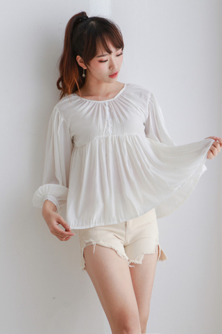 Three Quarter Sleeve Pelpum Top