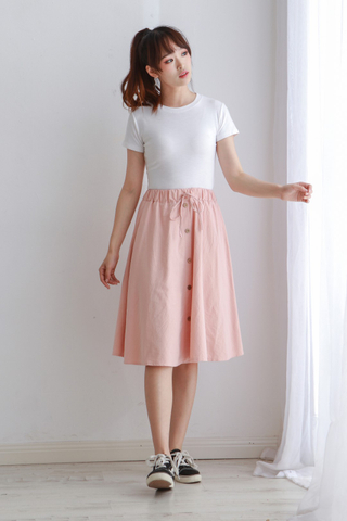 A Line Button Skirt