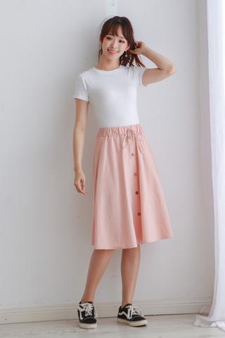 A Line Button Skirt