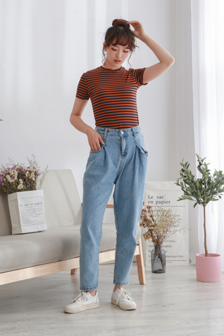 High Waist Pocket Denim