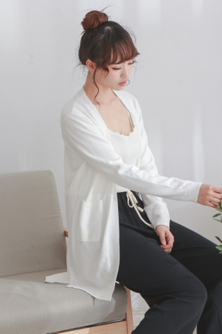 Long Knit Open Cardigan