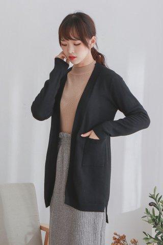 Long Knit Open Cardigan