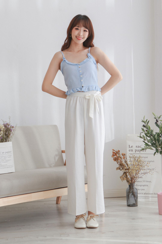 Linen Cotton High Waist Pants