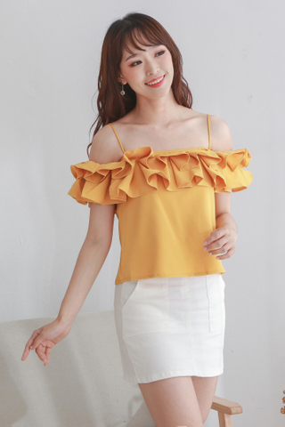 Double Ruffled Crop Top