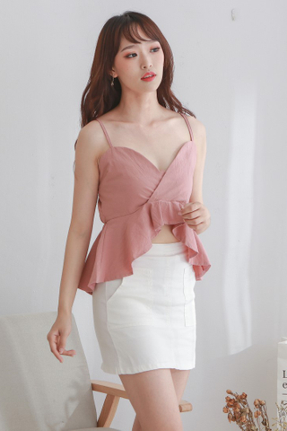 V-Neck Ruffled Crop Top