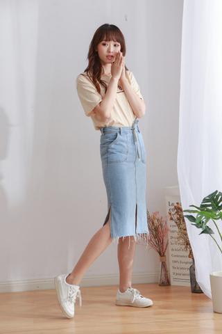 Denim Ankle Skirt