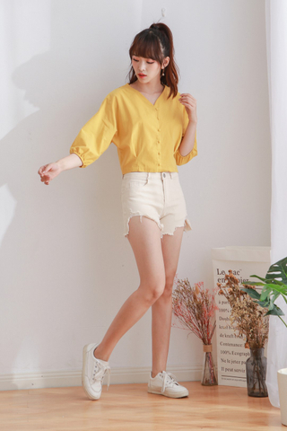Denim Ankle Short Pants