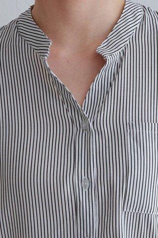 Pocket Stripe Blouse