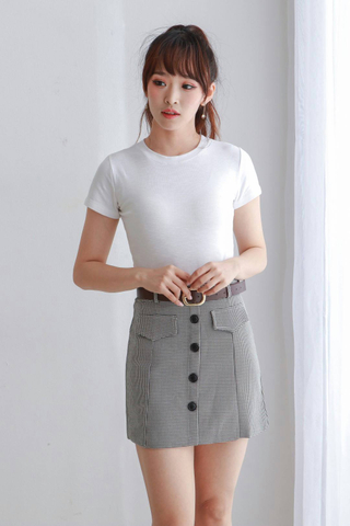 Chidori Button Short Skirt