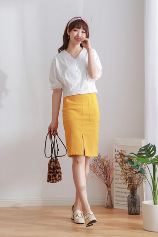 Open Cut Pencil Skirt