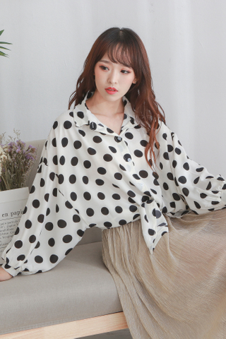 Big Polka Dot Blouse