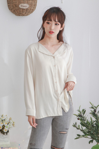 V Collar Longsleeve Top
