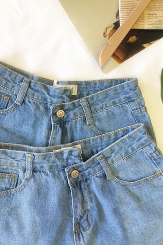Asymmetric High Waist Denim