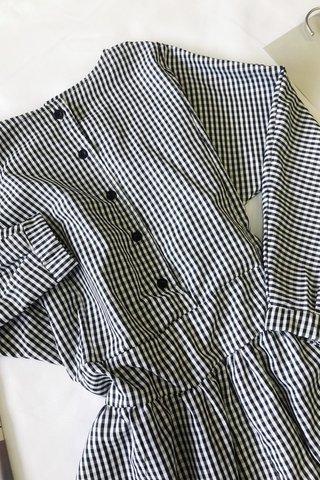 Gingham Checkered Dress