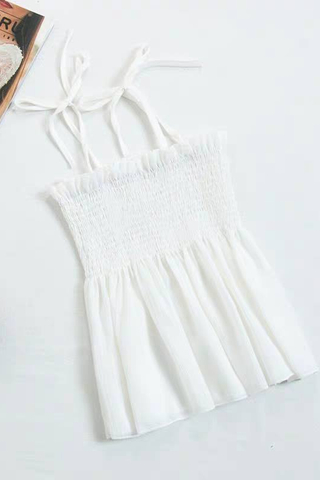 Elastic Sleeveless Top