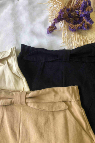 Front Tie Ribbon Shorts