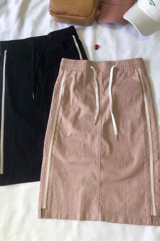 Denim Slit Pencil Skirt