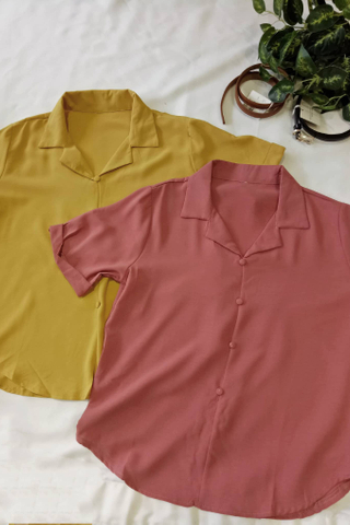 Casual Button Collar Blouse