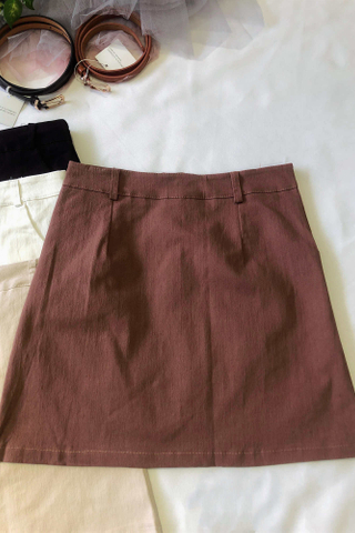 Plain Color Mini Skirt