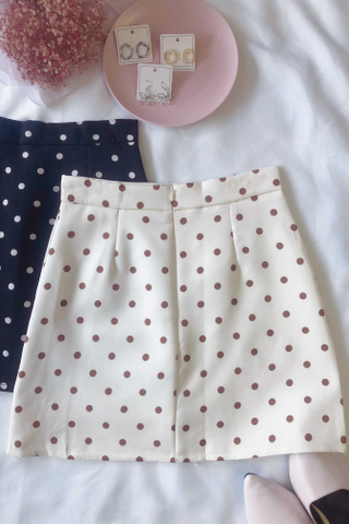 Printed Polka Dot Skirt