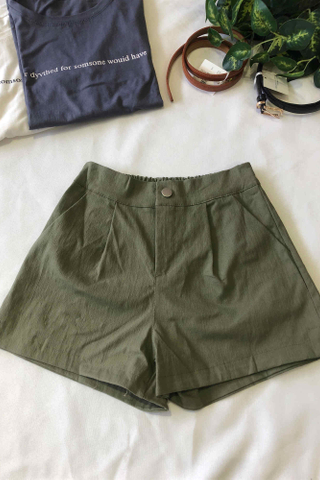 High Waist Straight Shorts