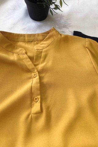 V-Neck Button Top