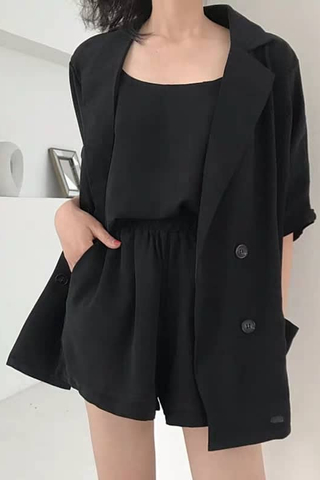 Double-Breasted Blazer Sets
