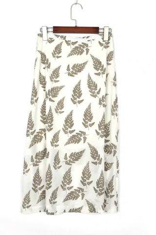 Printed Leave Midi Skirt