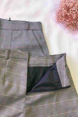 High Waist Glen Plaid Shorts