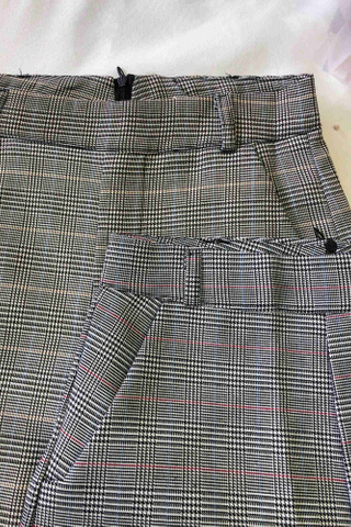High Waist Glen Plaid Shorts