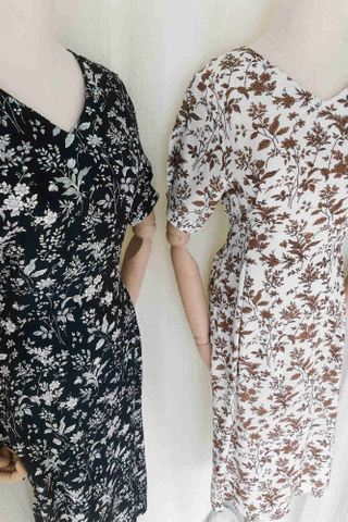 Flora Tie-Waist Midi Dress